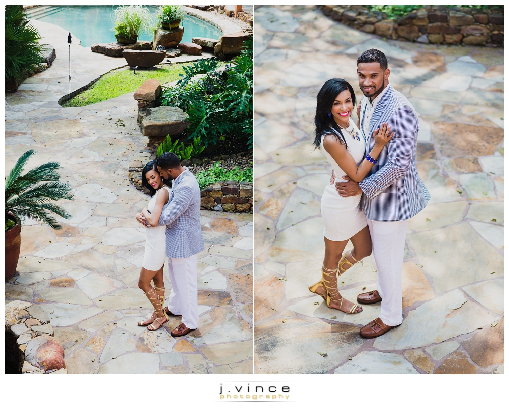 Adiah Prince and Courtland Marshall's Engagement session at Agave Real in Katy, TX.